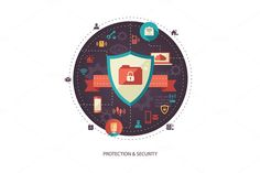 Protection and Security Illustration by Decorwith.me Shop on Creative Market