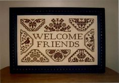 Quaker Welcome  cross stitch pattern by Midnight by TheCrossIBare, $7.00