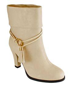 Look what I found on #zulily! Lena Luisa Beige Tassel Dorthy Ankle Boot by Lena Luisa #zulilyfinds