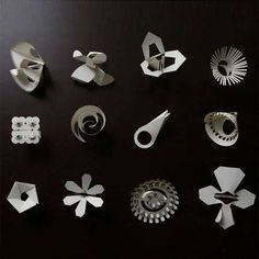 Origami rings by Tithi Kutchamuch and Nutre Arayavanish of TT:NT