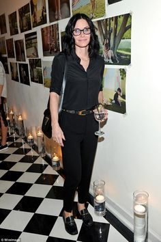 Back to basics: Courteney Cox proved she could compete with the best with them even when stripping back her look as she attended the Superga XO Jennifer Meyer Collection Launch Celebration at Chateau Marmont in Los Angeles on Tuesday night