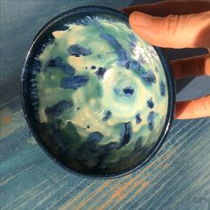 Favorite colors?? Blue and turquoise!? This is a little bowl or tea bowl.