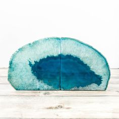 Agate Bookends Teal Stone Book Ends Geode Crystal Decor ($50) ❤ liked on Polyvore featuring home, home decor, grey, home & living, home décor, christmas home decor, gray home decor, teal blue home decor, geode home decor and teal home decor