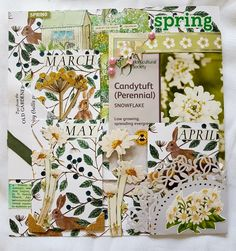 Spring page for a Garden Journal