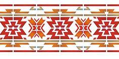 Aztec Border Stencil Aztec Stencils