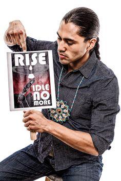 Hollywood Native actors pose for Idle No More campaign, JT Pro Imaging: Martin Sensmeier -Tlingit and Koyukon-Athabascan