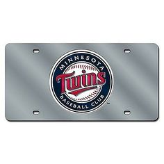 Minnesota Twins Silver Laser Cut License Plate