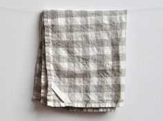 DISH TOWEL  linen gingham by smallbatchproduction on Etsy, 20.00