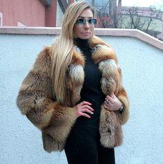 Pelzmantel Fuchs Rotfuchs fur coat fox red fox шуба 38-40 in Kleidung & Accessoires, Damenmode, Jacken & Mäntel   eBay