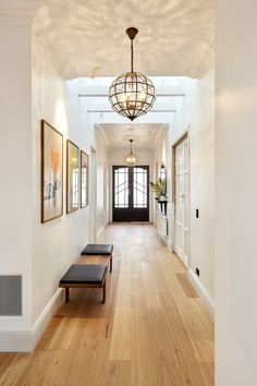 Usually people always focus on the lighting for their living rooms, bedrooms and kitchens, but they forget about hallway lighting design ideas. Entrance Lighting, Beacon Lighting, Foyer Lighting, Lighting Ideas, Lounge Lighting, Antique Lighting, Lighting Design, Lobby Design, Modern Entryway