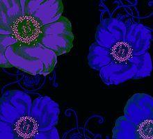 blue flowers by jen28nart