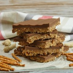 No Bake Chocolate Peanut Butter Pretzel Bars Are So Easy to Make and Absolutely Scrumptious!