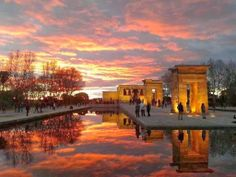 Madrid, Templo de Debod, 25th of January 2014, without Photoshop or filters. Beautiful