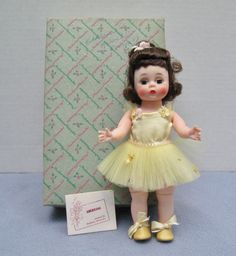 Vintage Madame Alexander Yellow Ballerina Doll #730 In Box in Dolls & Bears, Dolls, By Brand, Company, Character, Madame Alexander, Vintage (Pre-1973), 1960-72 | eBay