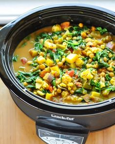 This creamy coconut curried stew is a perennial favorite in my house. It's full of tender vegetables and chickpeas, along with the warming flavors of ginger and garlic — and it's vegan! Yes, a batch of this stew makes it worth pulling out the slow cooker and clearing some space on the counter.