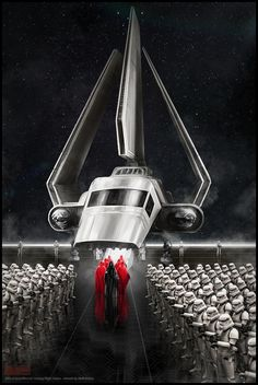 """Star Wars art """"The Emperor's Arrival"""" by Mark Molnar"""