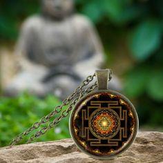 Sacred Sri Yantra Necklace + Pendant