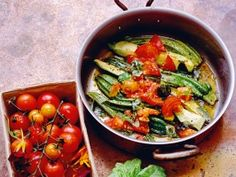 A Supper of Zucchini, Tomatoes, and Basil : Recipes : Cooking Channel  ** I made this tonight... it was DELISH!  Needs plenty of salt tho.