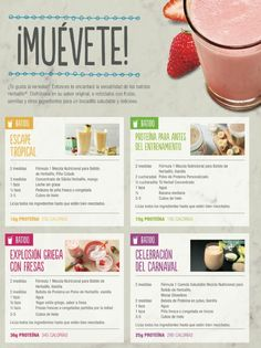 Inf. +593993797352 Herbalife Meal Plan, Herbalife Shake Recipes, Herbalife Recipes, Herbalife Nutrition, Diet And Nutrition, Herbalife Products, Healthy Treats, Healthy Life, Healthy Living