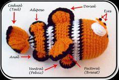 FREE Nemo Clown Fish Crochet Pattern and Tutorial, thanks so xox