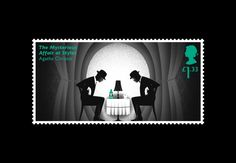 Royal Mail releases Agatha Christie stamps with 'hidden clues'. This one for The Mysterious Affair at Styles pictures Poirot and Hastings investigating the crime scene.