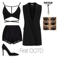 """first intro ootd"" by discoveringglam on Polyvore featuring Boohoo, New Look, Topshop and Gianvito Rossi"