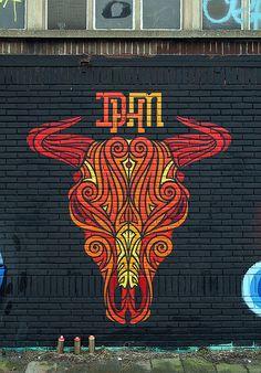 Bully Big @Nicole Novembrino Miller @RumourMiller Amsterdam 200 x 260 cm spray paint on brick 2014