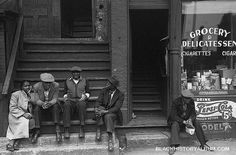 People sitting on front porches. Pepsi-cola for 5 cents? Chicago's Southside. Sittin' Easy | 1941