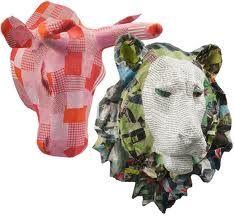 paper mache animal heads - Lion