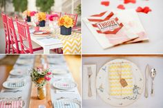 Chevron Wedding Details!