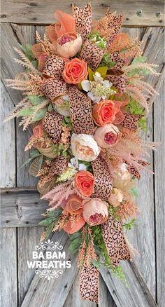Tulle Wreath, Diy Wreath, Floral Wreath, Summer Wreath, Spring Wreaths, Floral Centerpieces, Flower Arrangements, Shabby Chic Wreath, Wreath Making Supplies