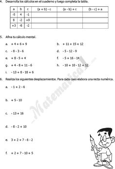 19 Ideas De Enteros Resta De Numeros Enteros Ejercicios Matematicos Secundaria Clase De Matemáticas