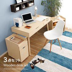【楽天市場】デスク> パソコンデスク 3点セット clark クラーク:インテリア家具のララスタイル