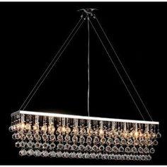 """Chandelier w/ Crystal Modern """"Rain Drop"""" Chandeliers Billiard Pool Table Light"""