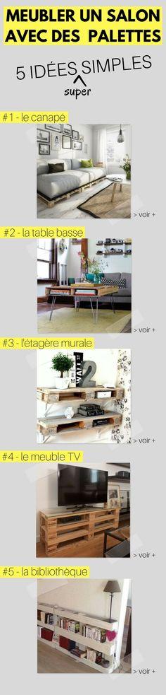 Les 5 Idées les + Simples pour Meubler Votre Salon en Palette !