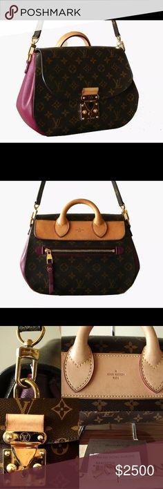 Louis Vuitton Eden MM Aurore Bag + Strap + Duster Gorgeous bag in excellent preowned condition! Comes with its dust bag and shoulder strap. Louis Vuitton Bags Shoulder Bags