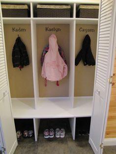 Craft storage kids cubbies 17 ideas for 2019 Cubby Storage, Kids Storage, Craft Storage, Locker Storage, Storage Ideas, Coat Closet Organization, Sewing Room Organization, Organization Ideas, School Bag Storage