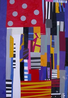 City Grid Flow: Collage by Rebecca Stees, fun@artyowza.com