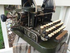 Rare - Vintage Oliver No. Antique Typewriter, Vintage Typewriters, Decoration, Cannon, Clock, Vintage Stuff, Antiques, Cameras, Ebay