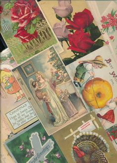 Antique  Mixed Lot of 25 Holidays & Greetings  Postcards-Vintage-a-254 #HolidaysGreetings