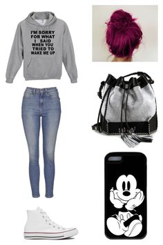 """""""Best friend Morgan's outfit"""" by annabolks ❤ liked on Polyvore featuring Topshop, Converse and Carianne Moore"""