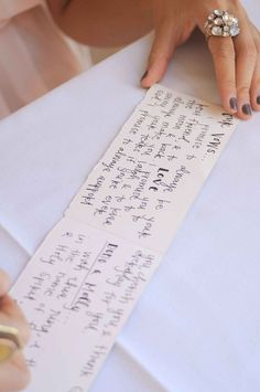 cute way to write out vows