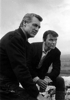 1957. Cary Grant and Frank Sinatra.