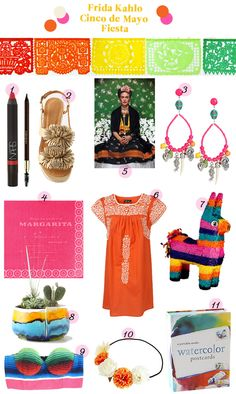 ask Savta who her favorite artist is and go with it - frida kahlo fiesta mexican party inspiration guide items products anthropology colorful pinata mexico cinco de mayo Mexican Fiesta Party, Fiesta Theme Party, Party Themes, Party Ideas, Mexican American, Mexico Party, Fiestas Party, Mexican Style, Festival Party