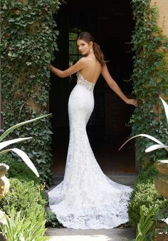 b507bf731b Blu by Morilee 5704 Peyton Illusion Bodice Lace Fit and Flare Wedding Dress