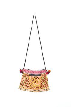 HMONG Hill Tribes Vintage Fabric Skirt Bag. #ethniclanna