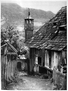 Minaret in Jajce, Bosnia and Herzegovina, 1925