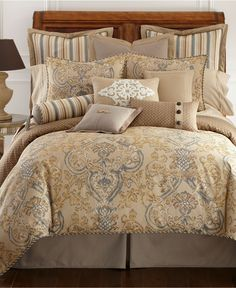 Just ordered this for the guest bedroom @ The Ranchita!  (Waterford Bedding, Harrison Queen Duvet Cover - Bedding Collections - Bed & Bath - Macy's)