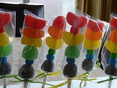 Rainbow candy kabobs