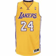 Kobe Bryant Los Angeles Lakers NBA Swingman, Yellow / Blue, zoom